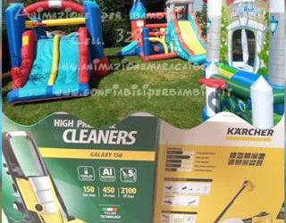 Gonfiabili per bambini puliti e sanificati